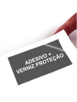 Adesivo + Verniz de Proteção Impresso por Metro Linear