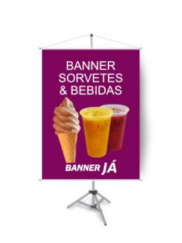 Banner Sorvetes & Bebidas, Crie On Line