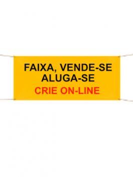 Faixa Aluga-se / Vende-se. Crie On Line