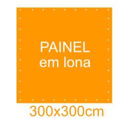 Painel em Lona 300x300cm  300x300cm