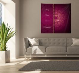 Painel em Tecido Mandala Paz Amor Vida