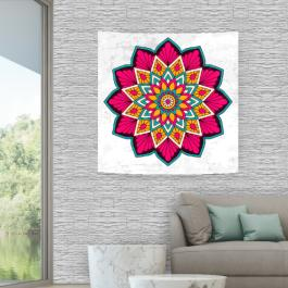 Painel em Tecido Mandala Pink